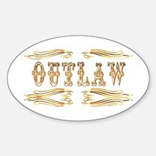 Outlaw Oval Decal