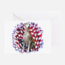 Whippet Patriotic Greeting Cards (Pk of 10)