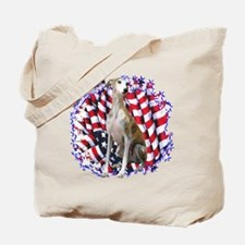 Whippet Patriotic Tote Bag