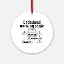 Dachshund Logic Ornament (Round)