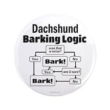"Dachshund Logic 3.5"" Button"