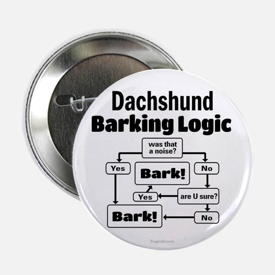 "Dachshund Logic 2.25"" Button"