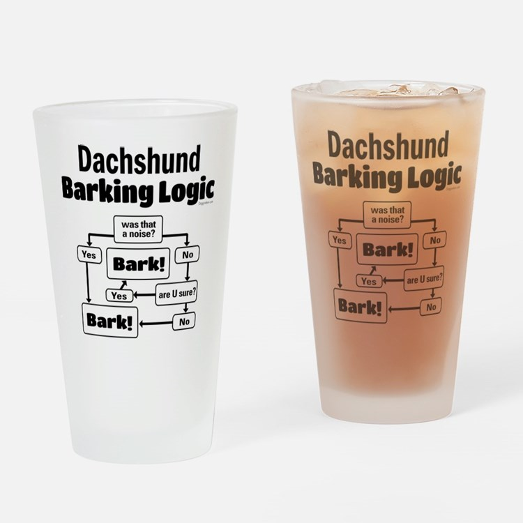 Dachshund Logic Drinking Glass