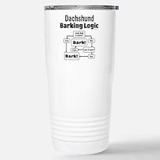 Dachshund Logic Travel Mug
