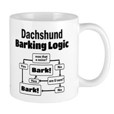 Dachshund Logic Small Mug
