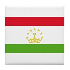 Flag Tajikistan Tile Coaster