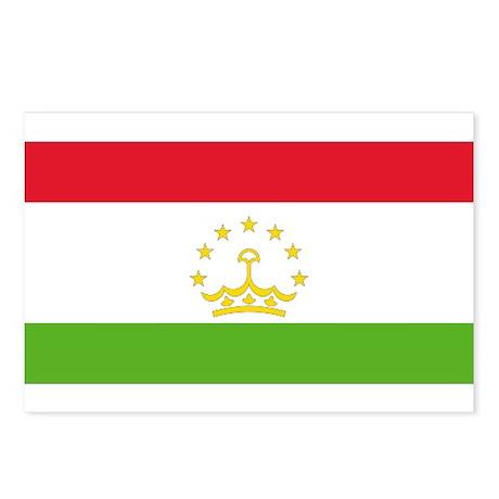 Flag Tajikistan Postcards (Package of 8)