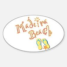 Madeira Beach - Sticker (Oval)