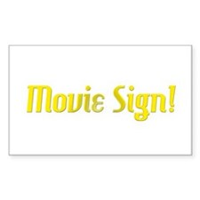 Movie Sign Rectangle Decal