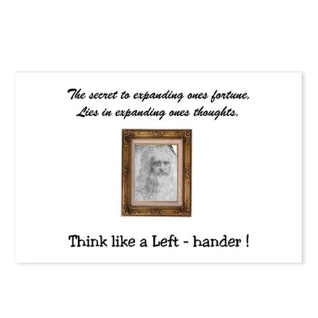Think like a Left-hander Postcards (Package of 8)