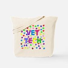 Vet Tech W/paws Tote Bag