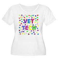 Vet Tech W/Paws Plus Size T-Shirt