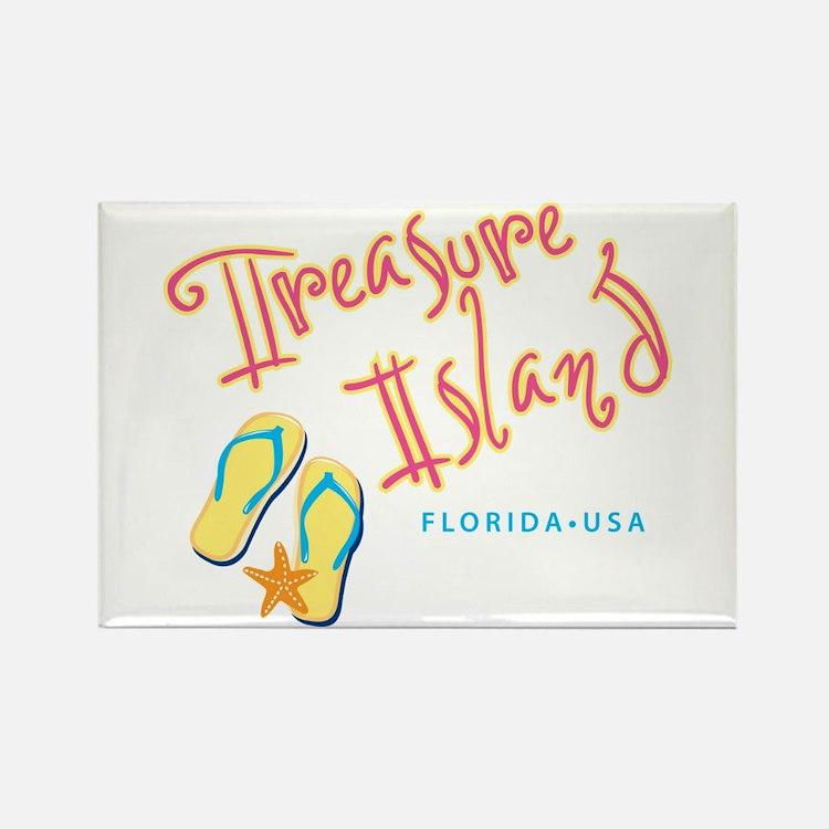 Treasure Island - Rectangle Magnet