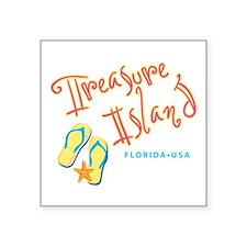 """Treasure Island - Square Sticker 3"""" x 3"""""""
