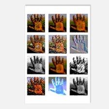 Left hand icons Postcards (Package of 8)