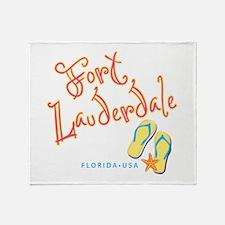 Fort Lauderdale - Throw Blanket
