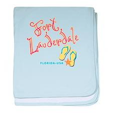 Fort Lauderdale - baby blanket