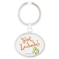 Fort Lauderdale - Oval Keychain
