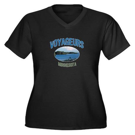Voyageurs National Park Women's Plus Size V-Neck D