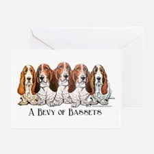 Basset Hound Bevy Greeting Cards (Pk of 10)