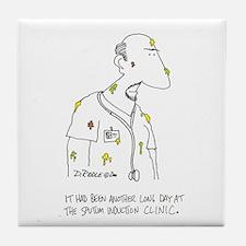 Sputum Induction Clinic Tile Coaster