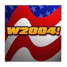 """""""W 2004!"""" Tile Coaster"""