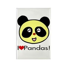 I Love Pandas! Rectangle Magnet
