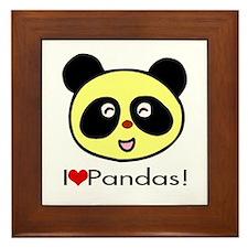 I Love Pandas! Framed Tile