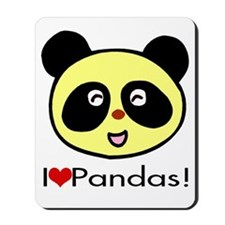 I Love Pandas! Mousepad
