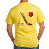 Grim reapers Mens Yellow T-shirts
