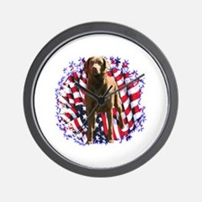Chessie Patriotic Wall Clock