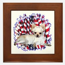 Chihuahua Patriotic Framed Tile