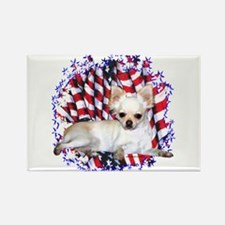 Chihuahua Patriotic Rectangle Magnet