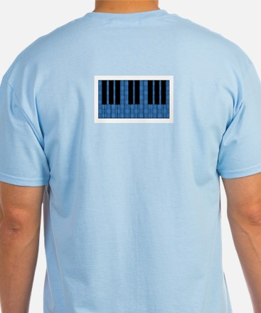 Blue Optical Illusion Piano T-Shirt