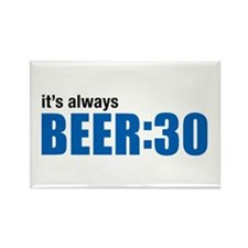 It's always BEER:30 Rectangle Magnet