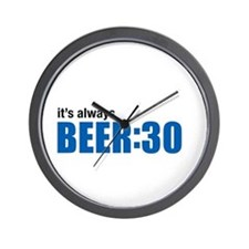 It's always BEER:30 Wall Clock