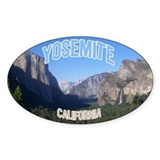 Yosemite National Park Oval Decal