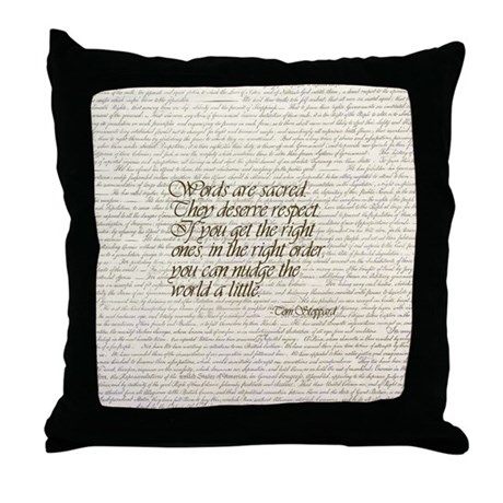 Quotes - Words are Sacred Throw Pillow