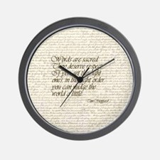 Quotes - Words are Sacred Wall Clock