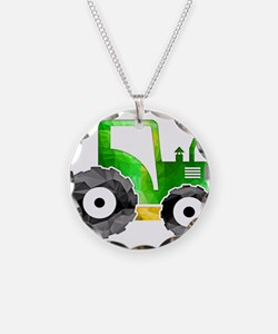 Funny Tractor Necklace