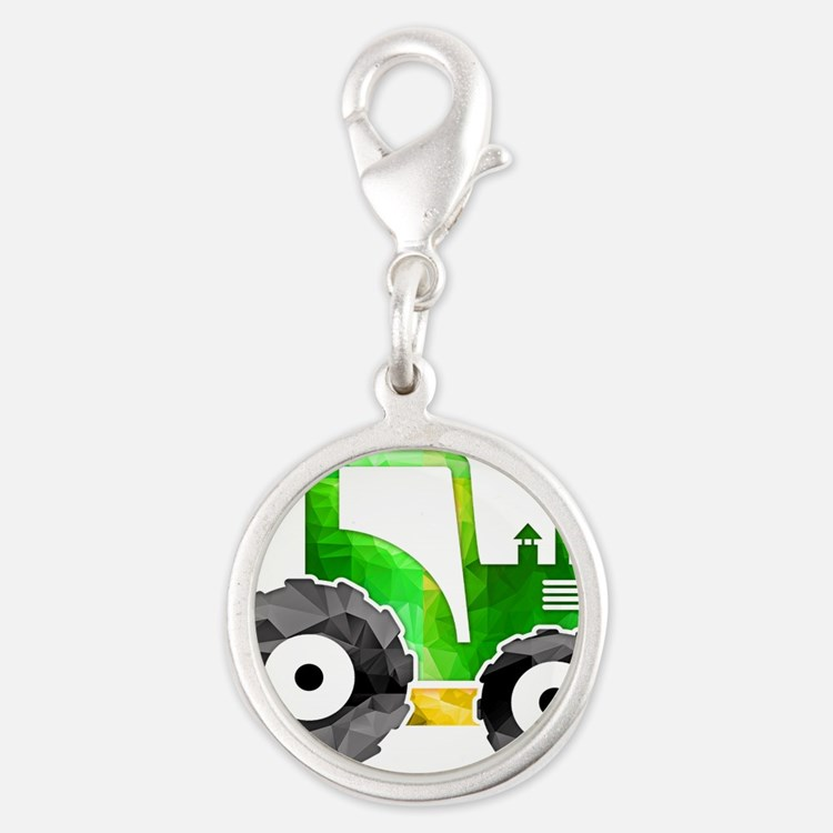 Polygon Mosaic Green Yellow Tractor Charms