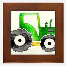 Cute Tractor Framed Tile