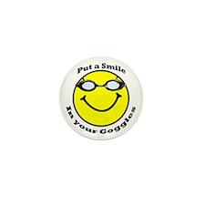 Smiling Goggles Mini Button