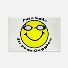 Smiling Goggles Rectangle Magnet