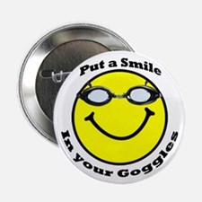 "Smiling Goggles 2.25"" Button"