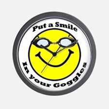 Smiling Goggles Wall Clock