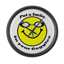 Smiling Goggles Large Wall Clock