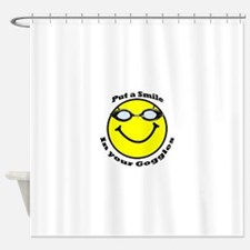 Smiling Goggles Shower Curtain