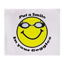 Smiling Goggles Throw Blanket