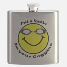 Smiling Goggles Flask